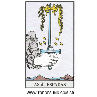cartas de tarot as de esapadas