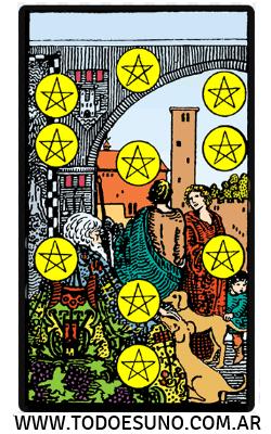 carta de tarot 10 de oros