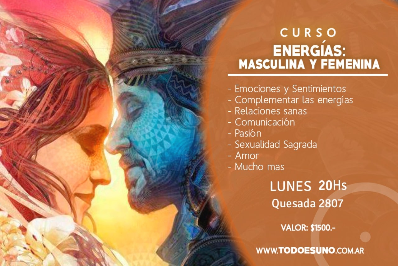 flyer de energias: masclina y femenina