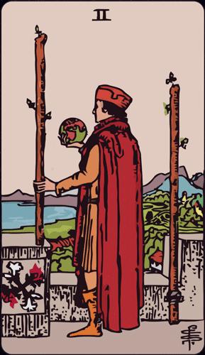 Carta de Tarot dos de bastos